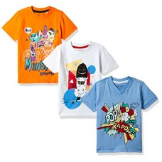 Cherokee Boys' T-Shirt (Pack of 3) (272514689_ASSORTED_05Y_HS)